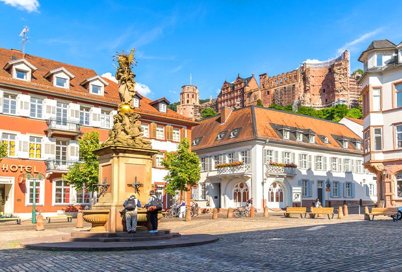 Der Kornmarkt in Heidelberg