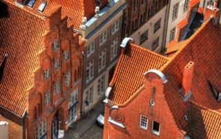 Backsteinhäuser in der Lübecker Altstadt